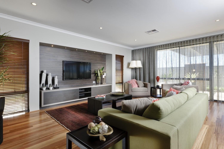 WA Country Builders - Toorak open-plan living area